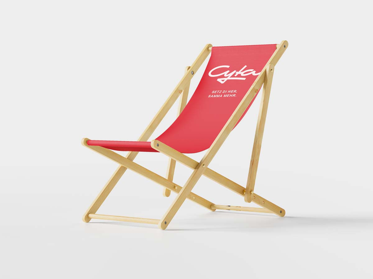 Cyta Shoppingwelt beach chair with cyta logo