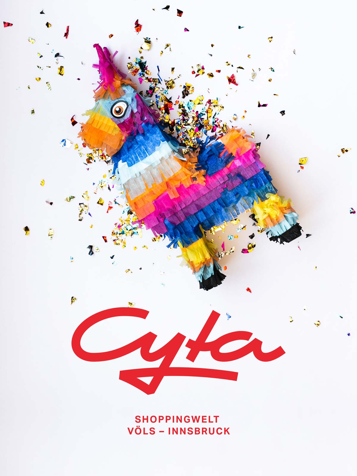 Cyta Shoppingwelt logo on photography of pinata by Brenna Huff from Unsplash