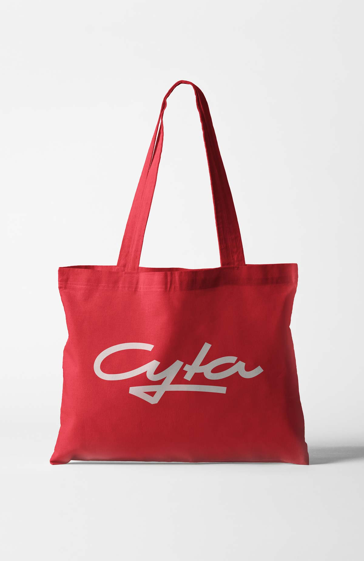 Cyta Shoppingwelt large tote bag with cyta logo