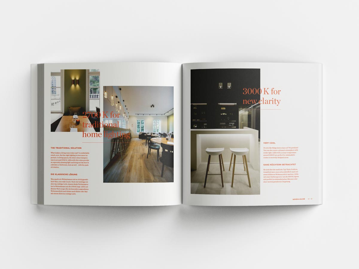 Wever and Ducre catalogue inner pages home lighting