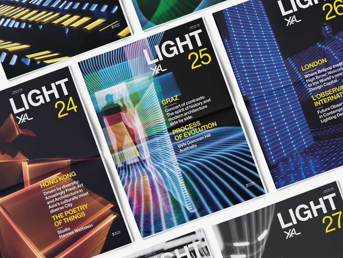 XAL Light magazine editorial design covers by albert exergian